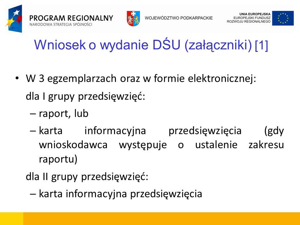 Wniosek o wydanie DŚU (załączniki) [1]